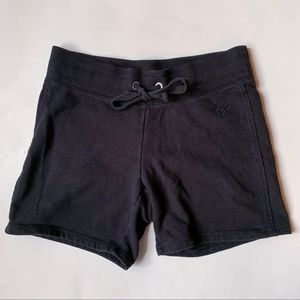 Justice Black Tie Front Cloth Shorts Size 12 G
